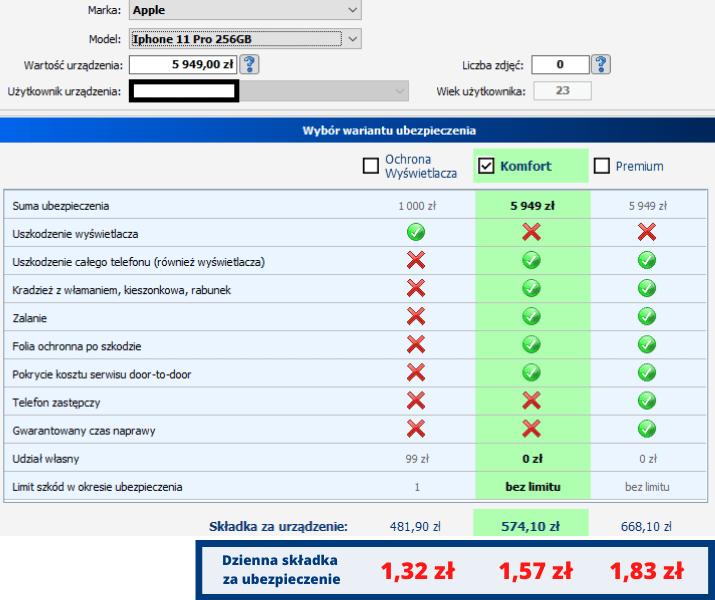 Iphone 11 pro - ile kosztuje ubezpieczenie